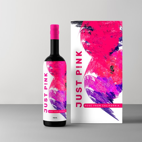 Label concept for women wine