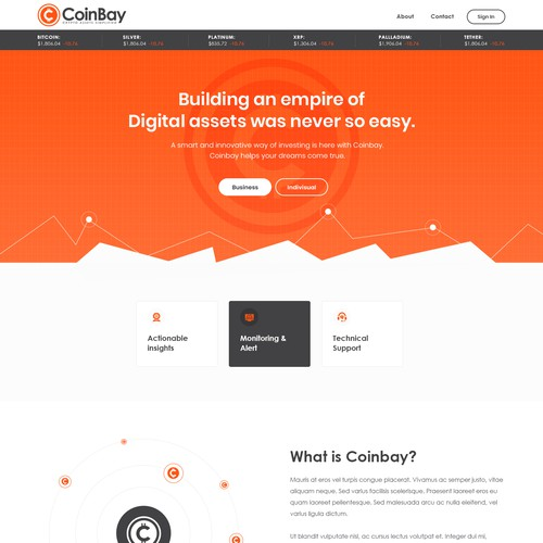 Crypto Currency Basic Landing Page