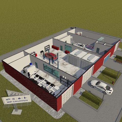 wp gruppen 3D building