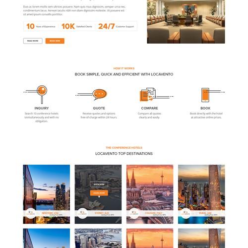 Website design for Locavento