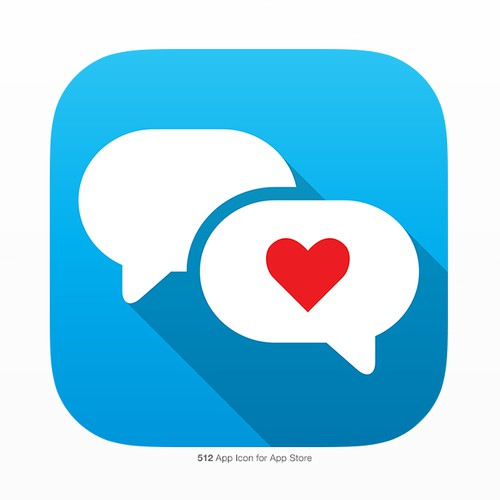 Couples app icon contest entry