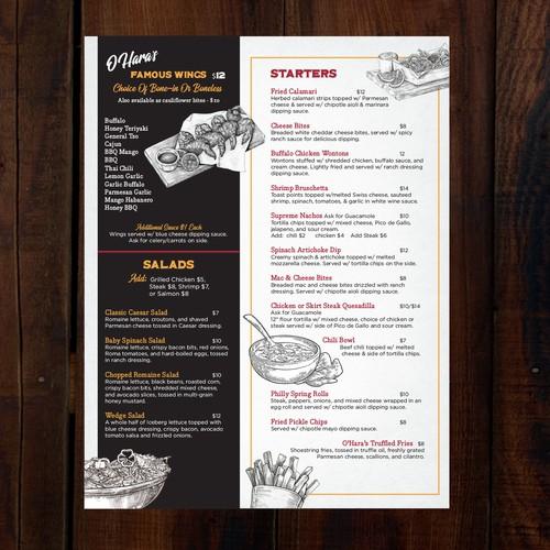 Premium Bar & Grill Menu