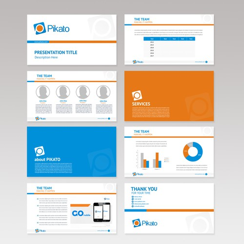Client presentation PowerPoint Template for Pikato