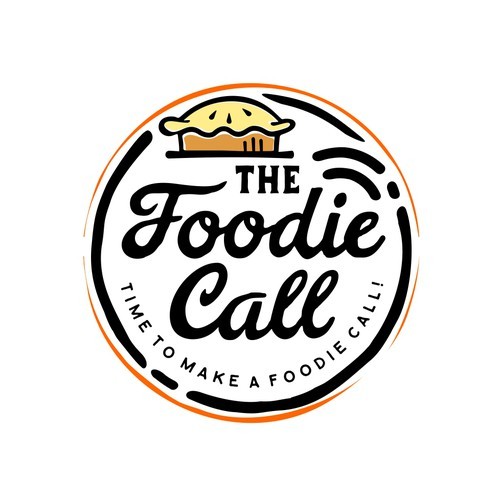 Logo Design for The Foodie Call - Foodtrucks
