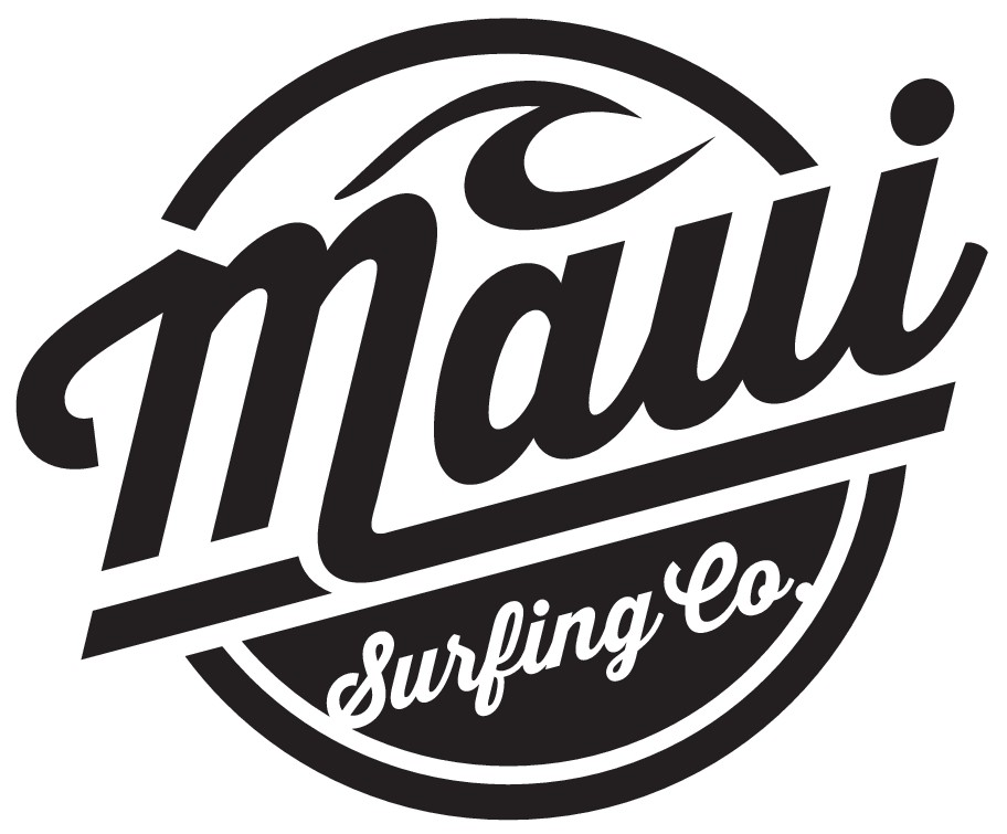 "Design a surfing lifestyle brand logo for ""Maui Surfing Co."""