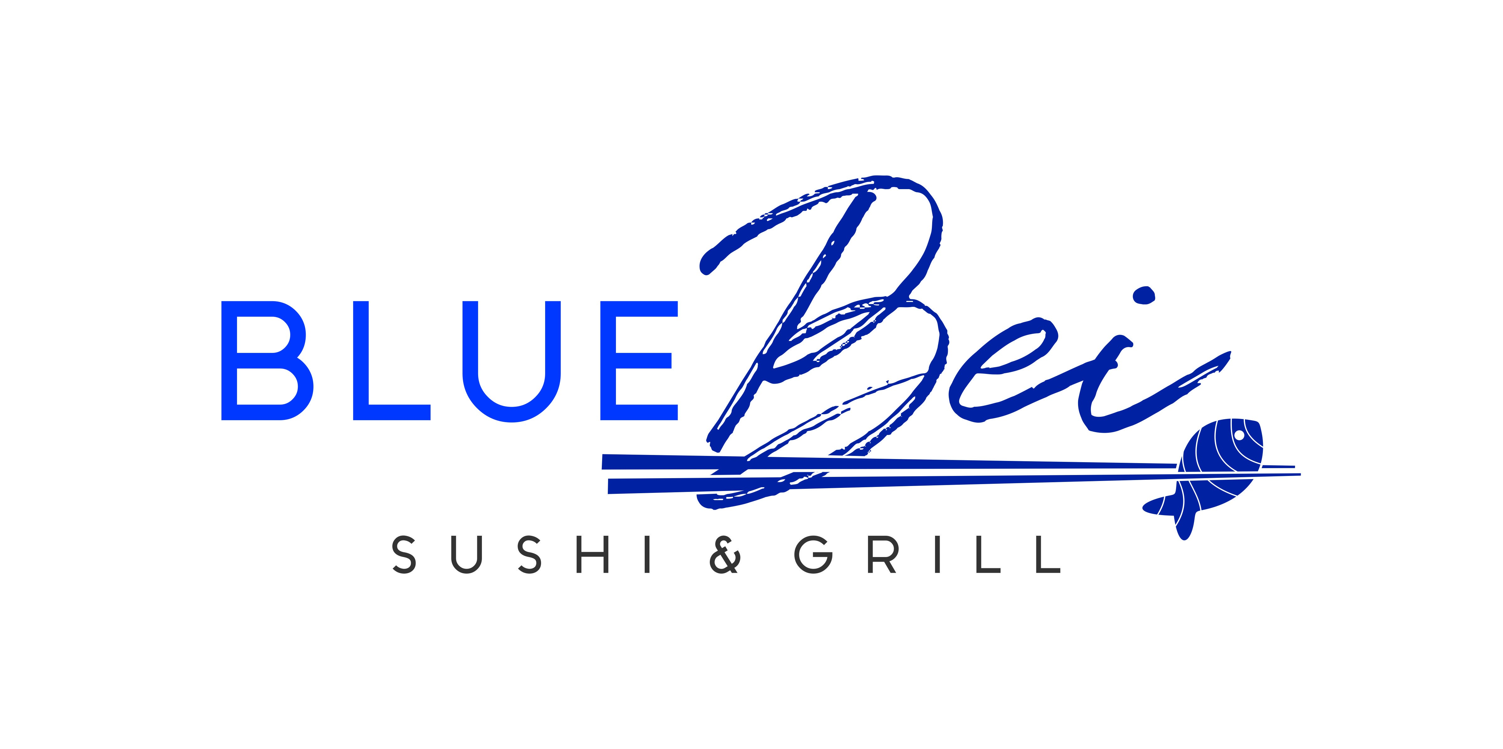 Design a sharp cool looking logo for BlueBei sushi restaurant