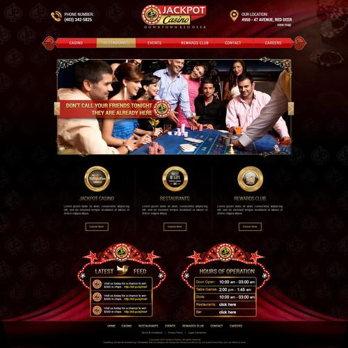 Jackpot Casino Website Design