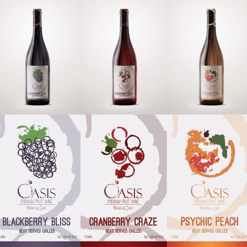 Wine Label for Fruit-Infused Wines