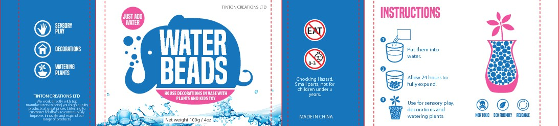 Fresh modern design for popular retail item - Water beads - Custom Product label