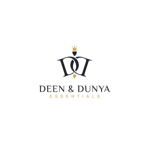 Concept logo for deen and dunya