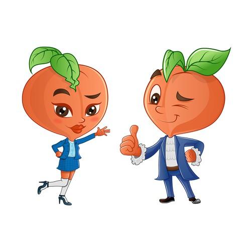 Peach Mascots Design