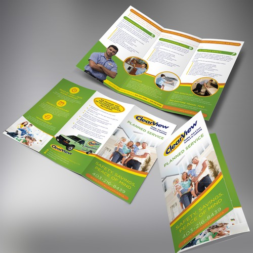 Design a crisp, clear brochure for a Top Residential Plumbing Company