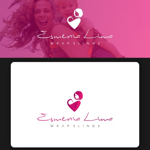 Create a cool logo for a baby carriers (slings) company that is expanding