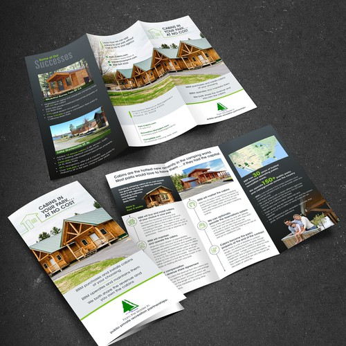 Create 3-fold Brochure for Outdoor Camping Business