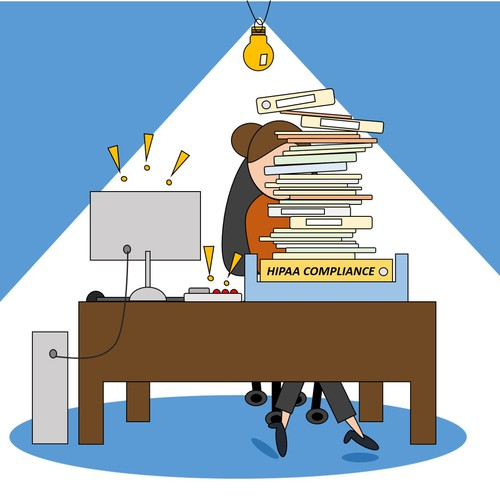 Illustration of Overworked Admin