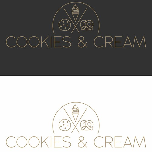 Logo Design for Cookies And Cream