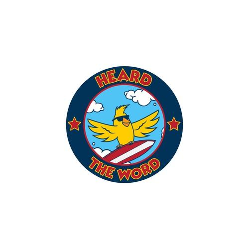 Surfing Bird Logo