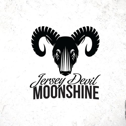 Creat the label for Jersey Devil Moonshine