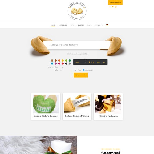 custom fortune cookies website