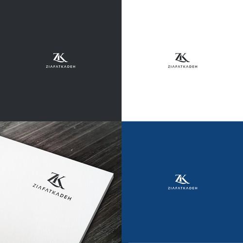 """""""ZK"""" Logo Design"""