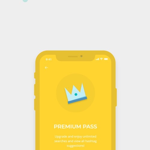 Colorful and quirky design for hashtag generator app
