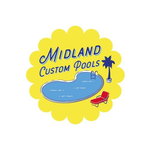 Vintage Pool Logo