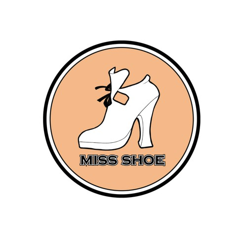 Logo for the webshop 'Miss Shoe'