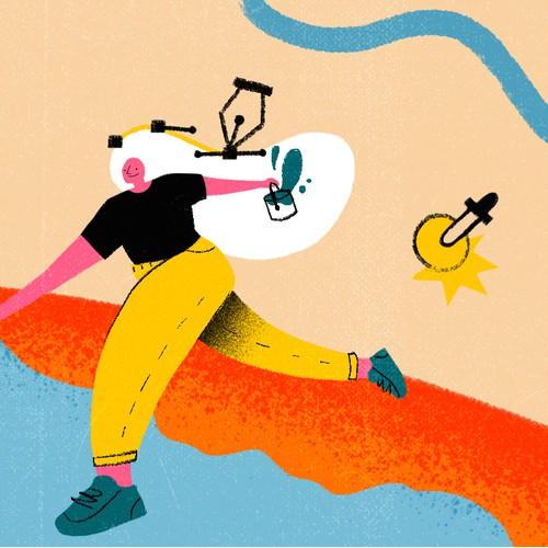 99d Facebook cover illustration