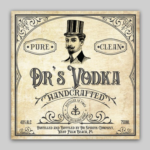 Craft Vodka label