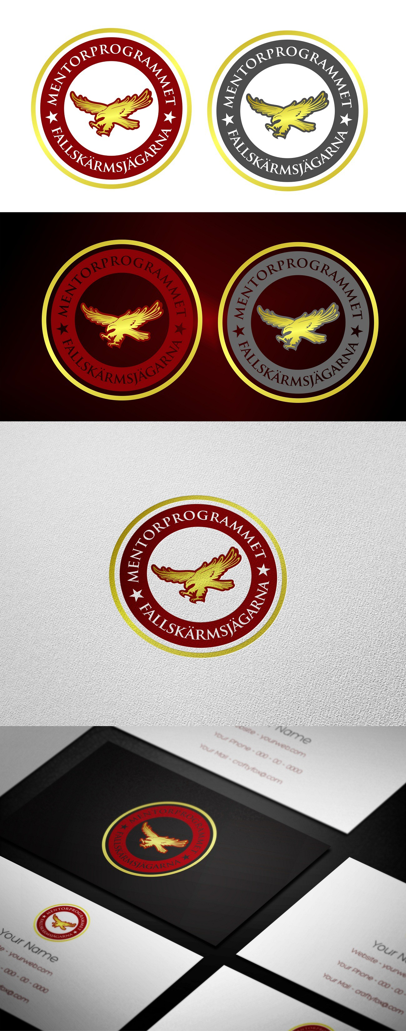 logo for Mentorprogrammet Fallskärmsjägarna