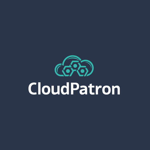 Cloud Application logo design concept.