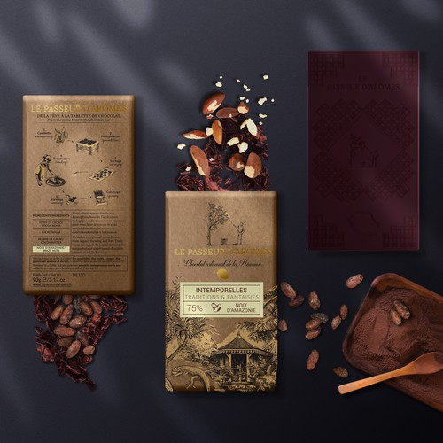 Packaging for traditionally made chocolate bars
