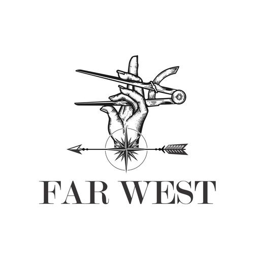 Far West wood working logo