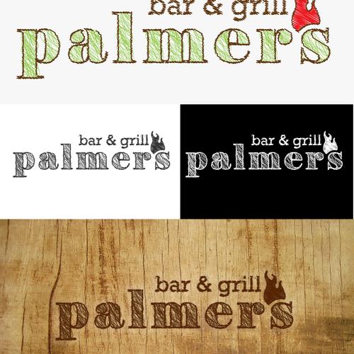organic logo for bar & grill