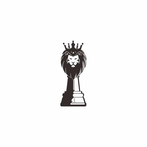 Lion Head + Chess piece + crown