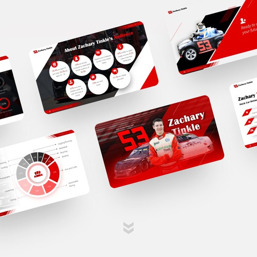 Race Car Driver Presentation Design