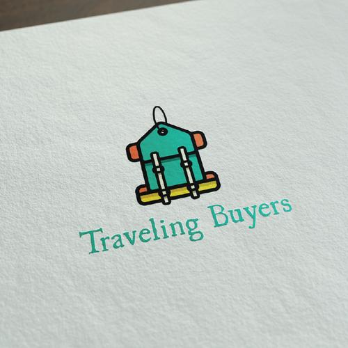 fun colourful shopping/travel logo