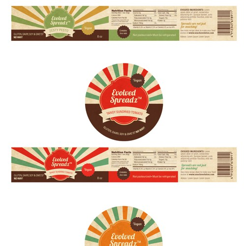 Create a Fun Label Design for an Up and Coming Health Food Product!