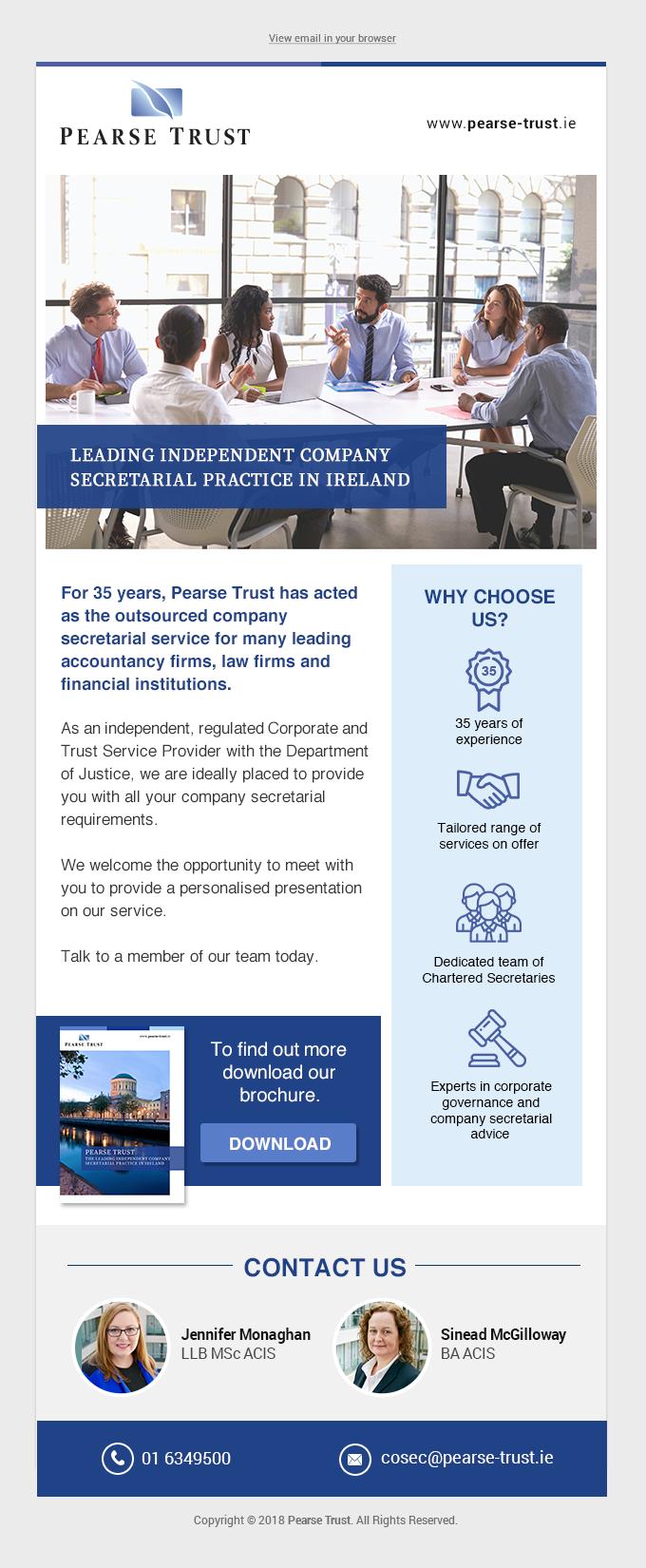 Irish Co Sec Email Campaign