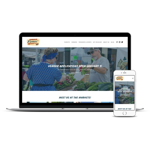 Content Rich Website with Clean Interface for Urban Farmers' Markets