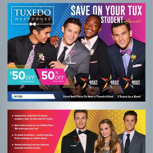 flyer for tuxedo wearhouse