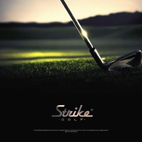 Strike Golf logo design