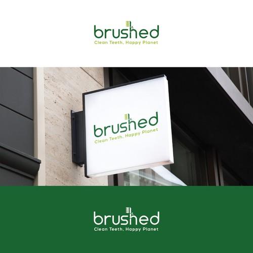 Logo design for brushed