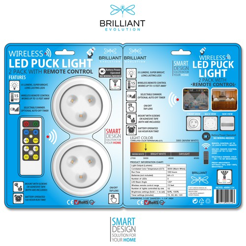Evolution Wireless LED Lights Design.
