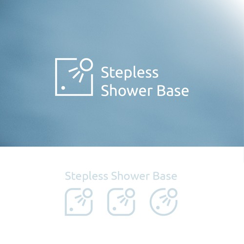 Logo concept for shower bases producer company.