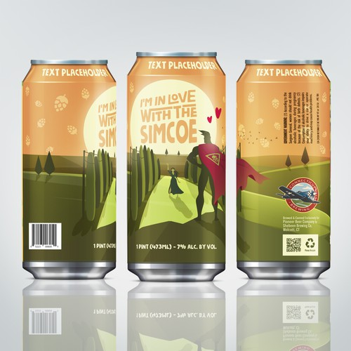 Beer can wrap for Brewing Company