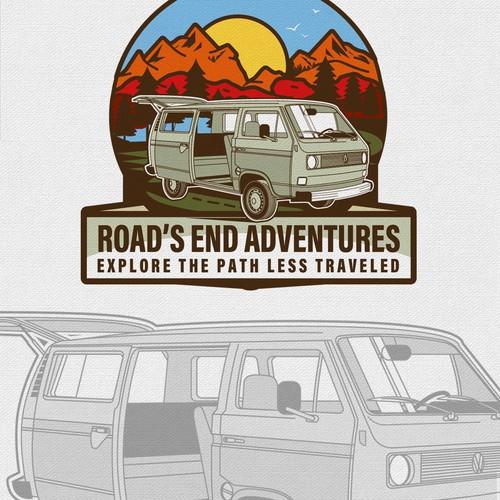 Logo for adventure van rental business