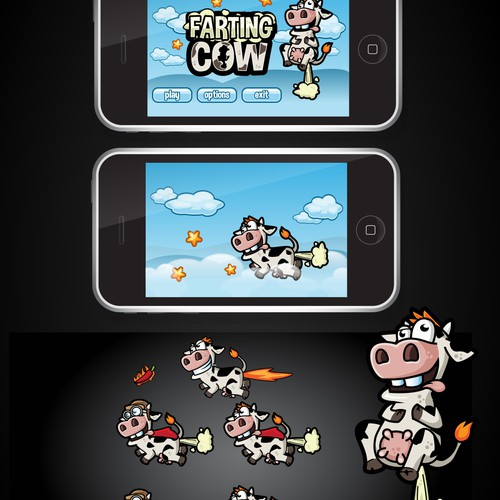 Need a Super Funny Farting Cow for a 2D iPhone Game.