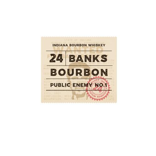 Label design for 24 banks Bourbon