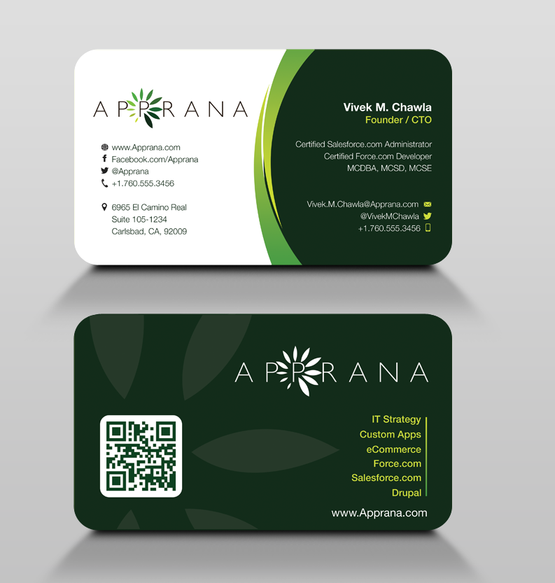 Apprana Needs a New Business Card!